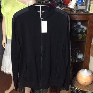 New MK zip up sweater with pockets